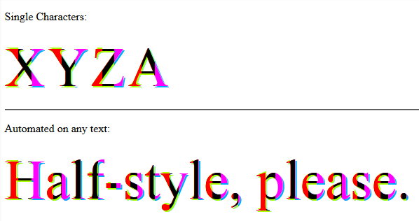 halfStyle - Vertical 1/3 Parts - With Text Shadow