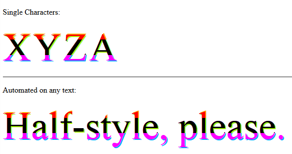 halfStyle - Horizontal 1/3 Parts - With Text Shadow