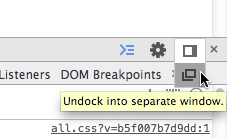 Undock Chrome Developer Tools