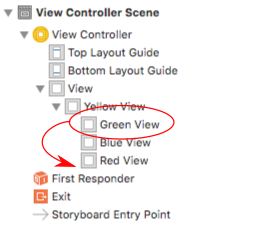 order of views in Interface Builder